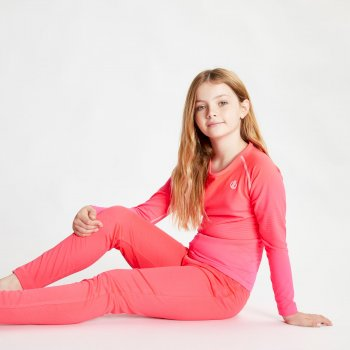 Kids' Elate Base Layer Set Neon Pink