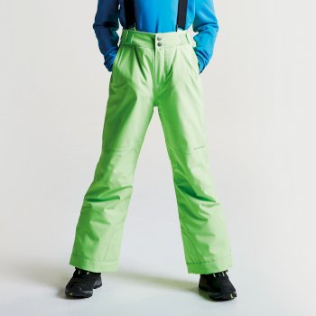 Kids Take On Ski Pants Neon Green