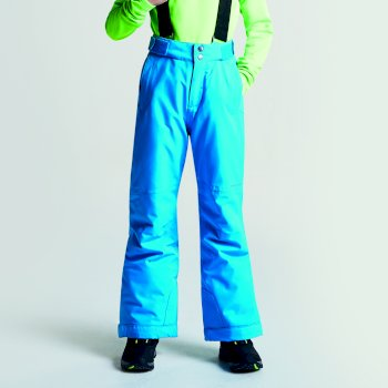 Kids Take On Ski Pants Fluro Blue