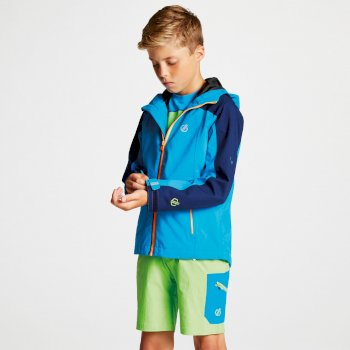 Kids' Avail Seamsmart Lightweight Hooded Waterproof Jacket Atlantic Blue Clear Water