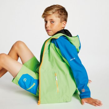 Kids' Avail Seamsmart Lightweight Hooded Waterproof Jacket Jasmine Green Petrol Blue