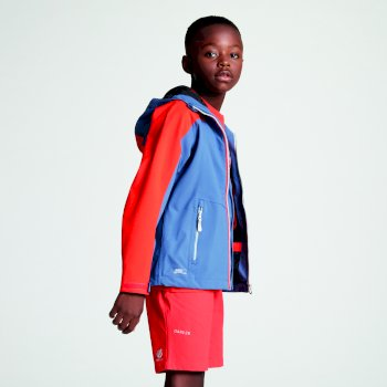 Kids' Avail Seamsmart Lightweight Hooded Waterproof Jacket Meteor Grey Cajun Orange