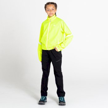 Kids' Cordial Waterproof Shell Jacket Fluro Yellow