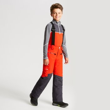 Kids' Timeout Ski Pants Fiery Red Ebony