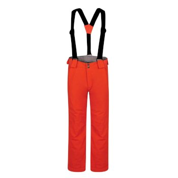 Kids' Motive Waterproof Insulated Ski Pants Fiery Coral