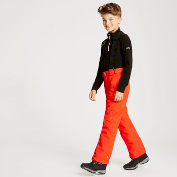 Kids' Motive Waterproof Insulated Ski Pants Fiery Red