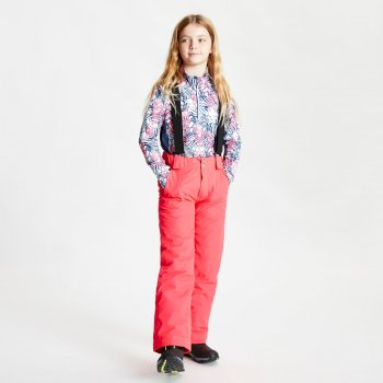 Kids' Motive Waterproof Insulated Ski Pants Neon Pink