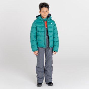 Kids' Motive Waterproof Insulated Ski Pants Dark Storm