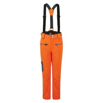 Kids' Timeout II Waterproof Insulated Ski Pants Blaze Orange Dark Denim