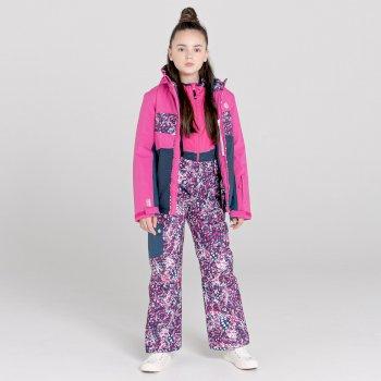 Salopette de ski Junior imperméable et isolante TIMEOUT II Rose