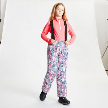 Kids' Timeout II Waterproof Insulated Ski Pants Neon Pink Animal Fusion Print