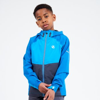 Kids' In The Lead II Hooded Waterproof Jacket  Petrol Blue Methyl Blue