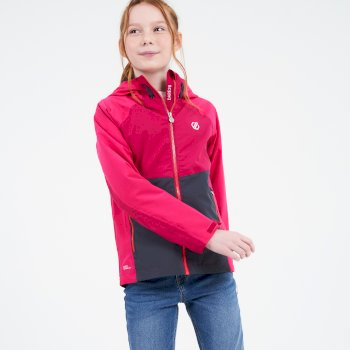 Kids' In The Lead II Hooded Waterproof Jacket  Duchess Pink Berry Pink