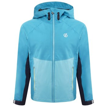 Kids' In The Lead II Hooded Waterproof Jacket  Seabreeze Blue Horizon Blue