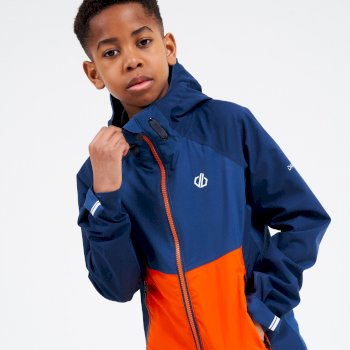 Kids' In The Lead II Hooded Waterproof Jacket  Nightfall Blue Dark Denim