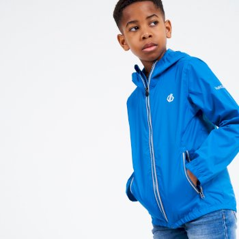 Kids' Amigo Hooded Lightweight Jacket  Petrol Blue