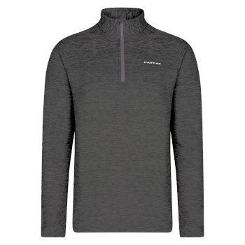 Men's Complex Half Zip Marl Fleece Charcoal Grey