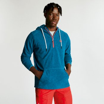 Men's Ellevate Half Zip Hooded Fleece Ocean Depths