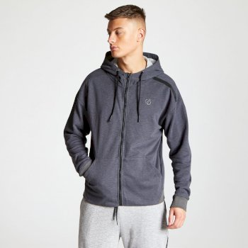 Men's Omneity Full Zip Hoodie Charcoal Grey