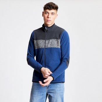 Polaire technique effet tricot Homme INCLUSE SWEATER avec ouverture zippée Bleu