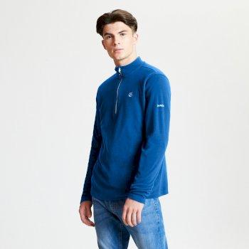 Polaire technique Homme FREETHINK avec ouverture par 1/2 zip Bleu