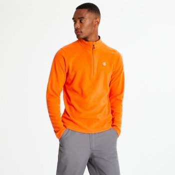 Men's Freethink Half Zip Lightweight Fleece Clementine