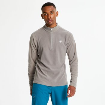Men's Freethink Half Zip Lightweight Fleece Cloudy Grey