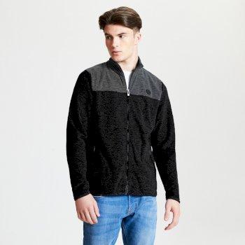 Men's Foretold Full Zip Lightweight Fleece Black Charcoal