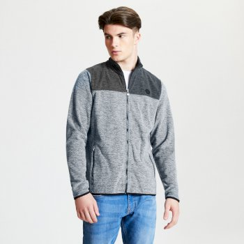 Men's Foretold Full Zip Lightweight Fleece Grey Marl Charcoal