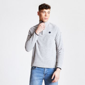Men's Obstinate Half Zip Lightweight Fleece Ash Marl