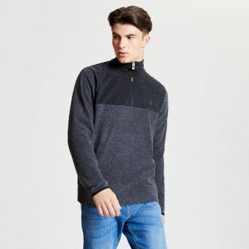 Men's Obstinate Half Zip Lightweight Fleece Charcoal Marl Black