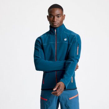 Men's Practice Full Zip Fleece Majolica Blue