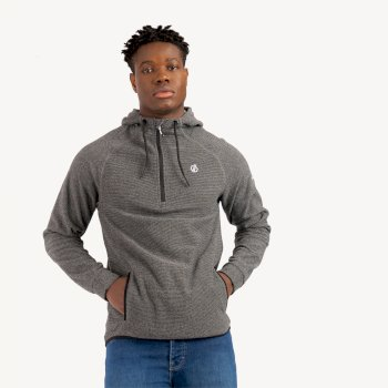 Men's Forgo Half Zip Hooded Fleece Aluminium Grey