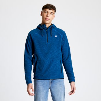 Men's Forgo Half Zip Hooded Fleece Athletic Blue