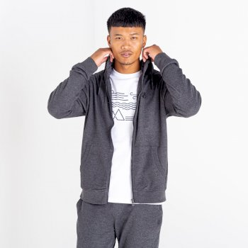The Jenson Button Edit - Modulus Full Zip Hoodie Charcoal Grey Marl
