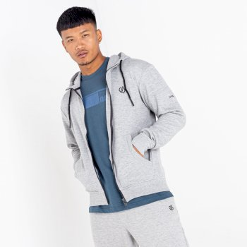 The Jenson Button Edit - Modulus Full Zip Hoodie Ash Grey Marl