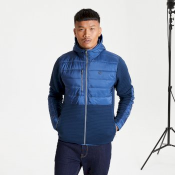 The Jenson Button Edit - Narrative Full Zip Hooded Fleece Nightfall Navy Dark Denim