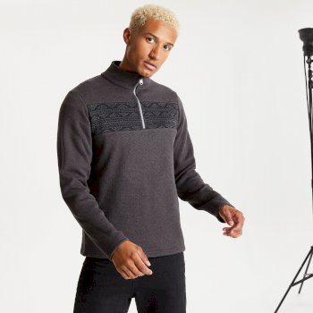 Men's Spatial Half Zip Fleece Ebony Grey