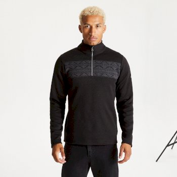 Men's Spatial Half Zip Fleece Black