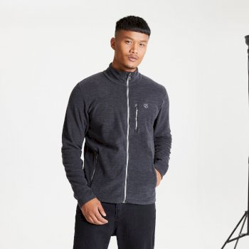 Men's Foretold II Full Zip Marl Fleece Black
