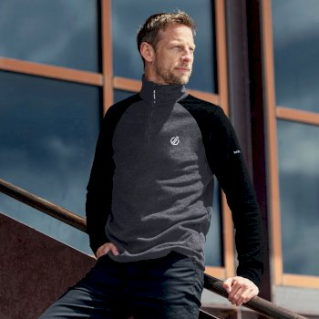 Men's Freethink II Half Zip Fleece Ebony Grey Black