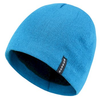 Men's Prompted Beanie Hat Methyl Blue