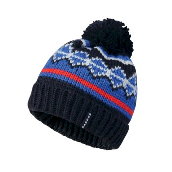Men's Strike It Bobble Beanie Hat Outerspace Blue Nautical Blue