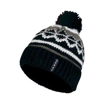 Men's Strike It Bobble Beanie Hat Black White