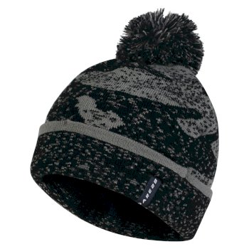Men s No Haste Bobble Beanie Hat Black Asteroid Grey a75074b34485