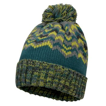 Men's Headstrong Bobble Hat Ocean Depths Citron Lime