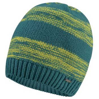 Men's Thesis Beanie Hat Ocean Depths Citron Lime
