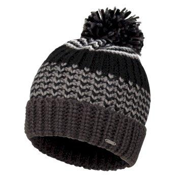 Men's Havoc Bobble Hat Black Ebony Grey