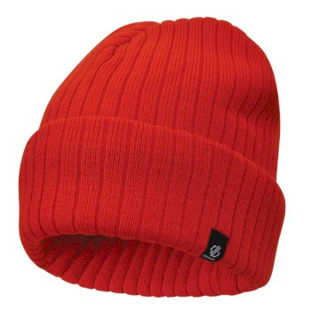 Men's On The Ball Beanie Hat Fiery Red