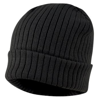 Men's On The Ball Beanie Hat Ebony Grey